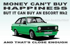 Ford Escort Mk2 RS Mexico Sport Ghia MODENA GREEN Novelty Fridge Magnet