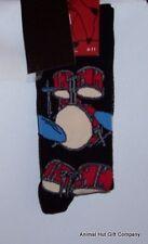 Drums on black Mens/Womens Socks