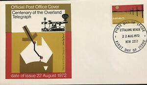 Australia  FDC 1972 Centenary Of The Overland Telegraph