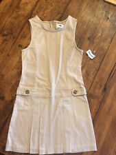 Bnwt Old Navy Pinafore Dress Beige Stretch Age 8