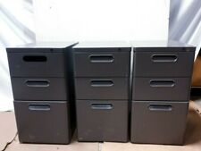 Stationary 3 Dawer File Cabinet with Lock