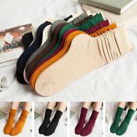 Girls Womens Soft knitting Socks Casual Cotton Middle Tube Sports Outside Socks