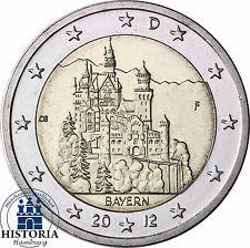 SERRATURA neuschwans Tein 2 Euro Germania 2012 Banca freschi Baviera MZZ F