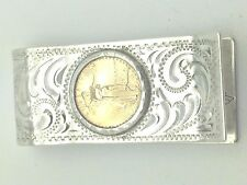 Vintage Sterling Hand Engraved Money Clip by Smith Enterprises Reno Nevada