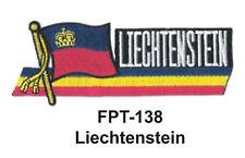 """1-1/2'' X 4-1/2"""" LIECHTENSTEIN Flag Embroidered Patch"""