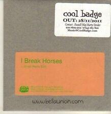 (CP353) I Break Horses, Wired - 2011 DJ CD