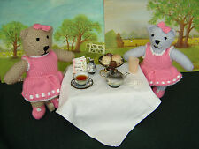 Teddy Bear Knitting Pattern: Easy Knit Dressed Toy Bear