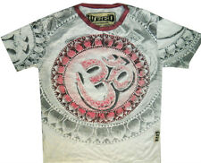 Men T Shirt Om Aum Hindu Sign India Thailand Nirvana Peace Hobo Boho Sz M RARE