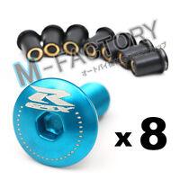 Blue GSX-R Logo Windscreen Fairing bolts screws for GSXR 600 750 1000 01-12