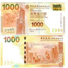 HONG KONG $ 1000 $ 1.000 BANK OF CHINA 2012 UNC P 345 b