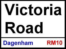 Dagenham fc and Redbridge Victoria Road Street Sign Metal Aluminium Football