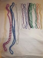 "Colorful Necklace Lot of 14 Beaded Necklaces 58"" to 15"" Mardi Gras, Child Party"