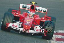 Marc Gene mano firmado 12x8 Foto Scuderia Ferrari.