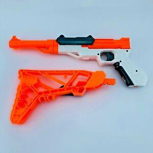 Hasbro Nerf Sharpfire Single-shot Pistol with Detachable Stock w/ 10 Darts