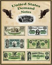 "Poster United States Large Demand Notes 16"" X 20"" Perfect for framing"