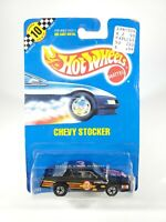 1990 HOT WHEELS #70 BLUE CARD SPEED POINTS - CHEVY STOCKER - NEW WITH PROTECTOR