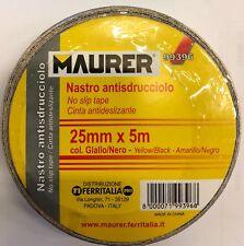 Antiscivolo Adesivo Giallo-nero 5mt 25mm Maurer in Rotolo