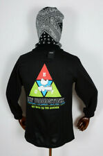 Huf Worldwide Skateboard Longsleeve Tee T-Shirt LS Woodstock Peaking Black in S