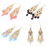Elegant Women Resin Beads Drop Dangle Ear Stud Earrings Fashion Ladies Jewelry