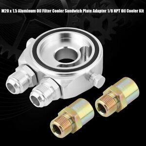 """Oil Cooler Filter sandwich plate  Adapter AN10 - M20 X 1.5MM 3/4"""" 16 UNF 1/8 NP"""