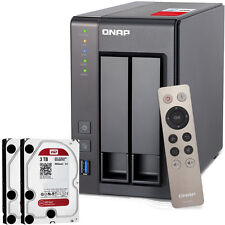 NEW QNAP TS-251+-2G-US 2-Bay Personal Cloud NAS  w/ 6TB (2x3TB) NAS Drives