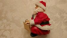 Ksa Collectibles Fabriche Santa Sitting With Computer Mouse Mice