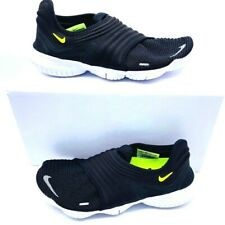 Nike Womens Free RN Flyknit 3.0 Running Shoes Black AQ5708-001 Slip On 7 M New