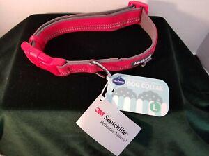 Blueberry Pet Soft & Safe 3M Reflective Neoprene Adjustable Dog Collar- L (2S8L)