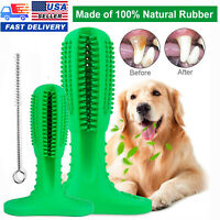 Dog Toothbrush Chew bite Toy Dental oral Care Brush Stick Natural Rubber pet