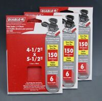 "18 Count NEW Diablo 4-1/2"" x 5-1/2"" 150-Grit Very Fine Palm Sander Sheets S-4939"