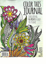 COLOR THIS JOURNAL, INCLUDING 46 PRINTS READY TO FRAME,    MARCH / APRIL, 2016