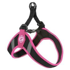 Gooby Small Breed Dog Harness Simple Step In - Pink - Medium M Reflective Strips