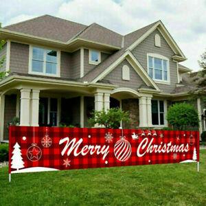 3M Merry Christmas Banner Santa Claus Decoration Xmas Outdoor Prop Home Street