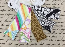 T. NEW Coach Multi-color Ponytail 100% Silk Bag Accessories Scarf Hairband Charm