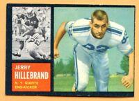 1962 Topps Football # 113 J. Hillebrand (VG-EX) Lot 701-- New York Giants
