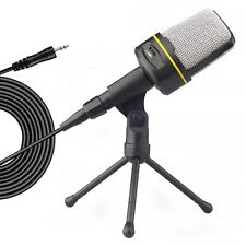 3.5mm Microphone Mic Condenser Record Studio Tripod Live Stand For PC Cell Phone