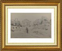 CHARLES WISLIN (1852-1932) SCENE ANIMEE A CAROLLES EN BRETAGNE 1916 (894)