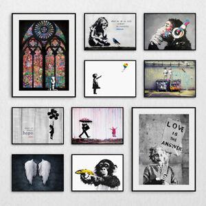 Banksy Prints Wall Art Pictures Graffiti Artwork Decor Print Posters - A3 A4 A5