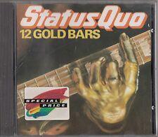 STATUS QUO 12 Gold Bars CD (Vertigo 800 062-2 No IFPI) The Best of/Greatest Hits