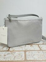 Ted Baker Grey Croc Reflective Double Small Cross Body Bag BNWT RRP £75.00