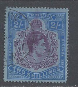 BERMUDA GVI 1941  2s. DEEP PURPLE AND ULTRAMARINE (C) PERF 14¼ USED  SG 116b