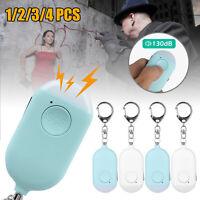 Emergency Personal Alarm Keychain 130dB Safe Self-Defense with LED Flash Light