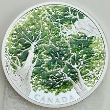 2018 $30 Canadian Canopy: The Maple Leaf, 2 oz. Pure Silver Colored Proof Coin