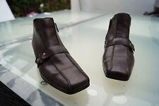 RIEKER Damen Schuhe Stiefel Boots Stiefelette Gr.37 dunkelbraun gefüttert TOP#76
