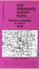 Old Ordnance Survey Mappa KIRKBY Lonsdale, Beetham & DISTRETTO 1876