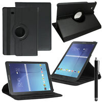 Etui Housse Rotatif 360° NOIR Samsung Galaxy Tab E 9.6 T560 T561 + Stylet