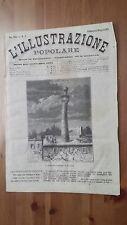 1873 Illustrazione Popolare: Veduta del Minareto Pendente di Semnan (Iran)