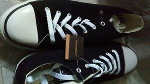 Dunlop Original Canvas Low New Boxed Black Size 10 Trainers Shoes