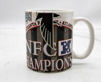 Rare Vtg 1998 Atlanta Falcons NFC Champions Coffee Mug/Cup