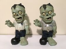 New York Yankees MLB Zombie Statue Figures Set of Two! ~ Home & Away Jersey